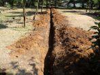 neuer Wasserleitungsgraben